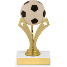 "Soccer Trophy - 6"" Soccer Trophy with a Star Riser"