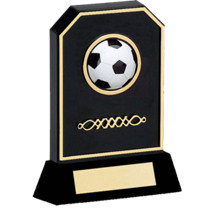 "Soccer Trophy - 6 3/4"" Black Acrylic 3-D Soccer Trophy"