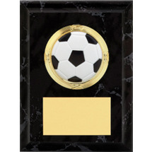 "Soccer Plaque - 4 x 6"" Black Soccer Plaque"