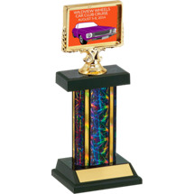"12"" Car Show Trophy with Dash Plaque Holder"
