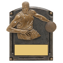"Basketball Trophy - Male - 5 x 6 1/2"" 3D Shadow Award"