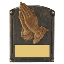 "Praying Hands Trophy - 6 x 8"" 3D Shadow Award"