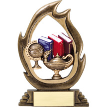 """Lamp of Learning Resin Flame Cut-Out Trophy - 7 1/4"""""""