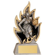 Basketball Ignite Resin Trophy - Female- 5 1/2""