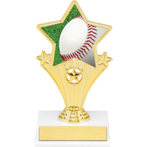 Baseball Super Star Trophy - 7""