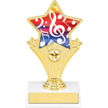 Music Super Star Trophy - 7""