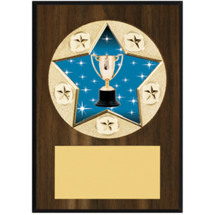 "Achievement Plaque - 5 x 7"" Star Emblem Plaque"