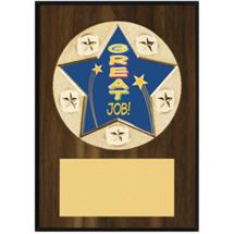 """Great Job Plaque - 5 x 7"""" Star Emblem Plaque"""