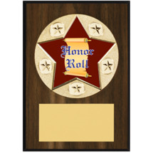 "Honor Roll Plaque - 5 x 7"" Star Emblem Plaque"
