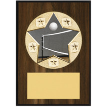 "Volleyball Plaque - 5 x 7"" Star Emblem Plaque"