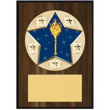 "Victory Plaque - 5 x 7"" Star Emblem Plaque"