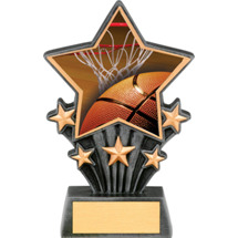 Basketball Resin Super Star Trophy - 6 1/2""