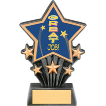 Great Job Resin Super Star Trophy - 6 1/2""