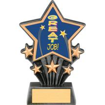 "Great Job Resin Super Star Trophy - 6 1/2"""