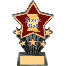 """Honor Roll Resin Super Star Trophy - 6 1/2"""""""