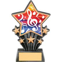 "Music Resin Super Star Trophy - 6 1/2"""