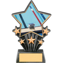 Swimming Resin Super Star Trophy - 6 1/2""