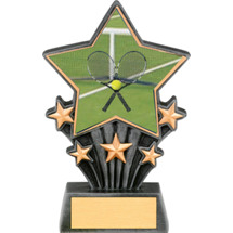 Tennis Resin Super Star Trophy - 6 1/2""