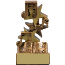 "Music Trophy - 5 1/4"" Academic Star Step Resin Trophy"