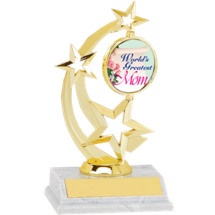 "8 1/2"" World's Greatest Mom Spinning Star Trophy"