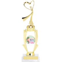 "13 1/2"" Gold Frame World's Greatest Mom Trophy"