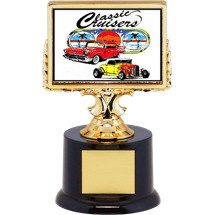 "6 1/4"" Car Show Trophy with Dash Plaque Holder"
