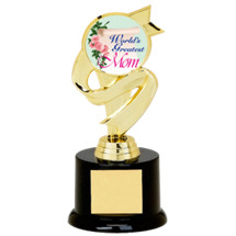 "6 3/4"" Black Acrylic ""World's Greatest Mom"" Trophy"