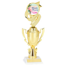 "11"" World's Greatest Mom Cup Trophy with Stars"