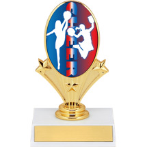 "5 3/4"" Cheerleading Oval Riser Trophy"