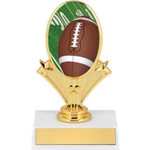 "5 3/4"" Football Oval Riser Trophy"