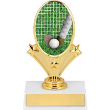 "5 3/4"" Field Hockey Oval Riser Trophy"