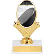 """5 3/4"""" Hockey Oval Riser Trophy"""