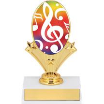 "5 3/4"" Music Oval Riser Trophy"