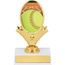 "Softball Trophy - 5 3/4"" Softball Oval Riser Trophy"