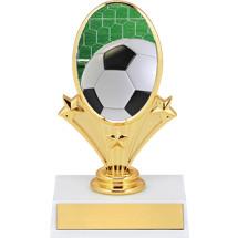 """Soccer Trophies - 5 3/4"""" Soccer Oval Riser Trophy"""