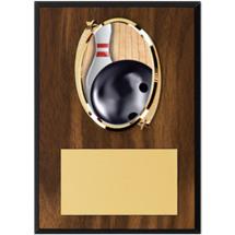 """Bowling Plaque - 5 x 7"""" Oval Emblem Plaque"""