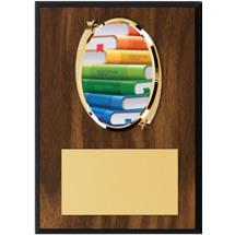 """Education Plaque - 5 x 7"""" Oval Emblem Plaque"""