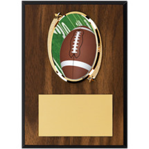"Football Plaque - 5 x 7"" Oval Emblem Plaque"
