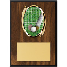 "Field Hockey Plaque - 5 x 7"" Oval Emblem Plaque"