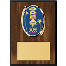 """Great Job Plaque - 5 x 7"""" Oval Emblem Plaque"""