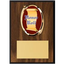 "Honor Roll Plaque - 5 x 7"" Oval Emblem Plaque"
