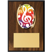 "Music Plaque - 5 x 7"" Oval Emblem Plaque"
