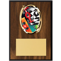 "Pinewood Derby Plaque - 5 x 7"" Oval Emblem Plaque"