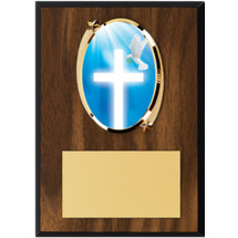 "Religious Plaque - 5 x 7"" Oval Emblem Plaque"