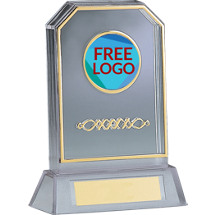 "6 3/4"" Acrylic Silhouette Trophy with Free Custom Logo Emblem Trophy"