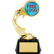 "7"" Free Custom Logo Star Riser Trophy"
