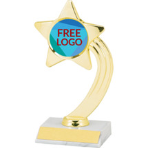 "8"" Free Custom Logo Shooting Star Trophy"