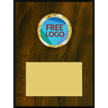 "Custom Plaque - 4 x 6"" Free Logo Emblem Plaque"