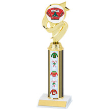 Christmas Sweater Trophy with Sweater Column