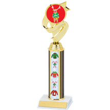 Reindeer Sweater Trophy with Sweater Column